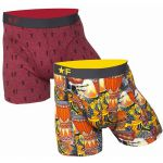 *F Exclusive heren boxershort 'Rhythms & Beats' Duopack bordeaux