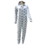Cocodream dames onesie fleece 'Hart' grijs