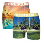 Freegun heren boxershorts microvezel Duo 'Beach'