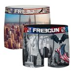 Freegun heren boxershorts microvezel Duo 'New York'