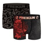 Freegun heren boxershorts microvezel Duo 'Koi/tribal'