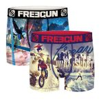 Freegun heren boxershorts microvezel Duo 'Winter'