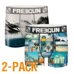 Freegun heren boxershorts microvezel Duo 'Beach/wakeboard'