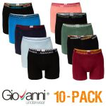 Giovanni heren boxershorts 10-pack 'Colours M32'